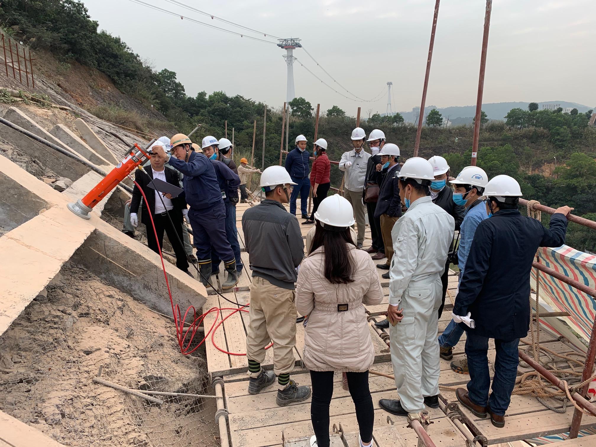 Thí điểm công nghệ neo đất của Nhật Bản tại Việt Nam