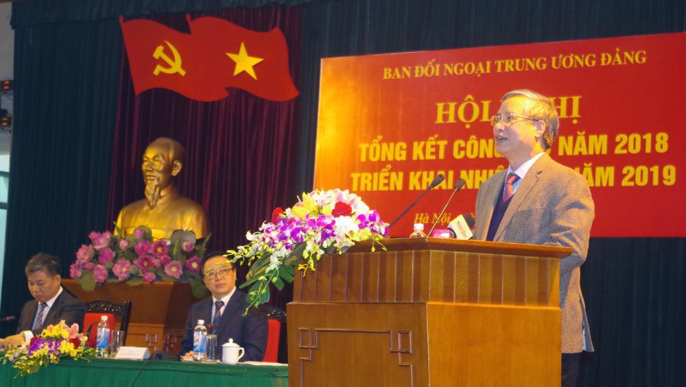 Tiếp tục thúc đẩy, nâng cao hiệu quả công tác đối ngoại của Đảng