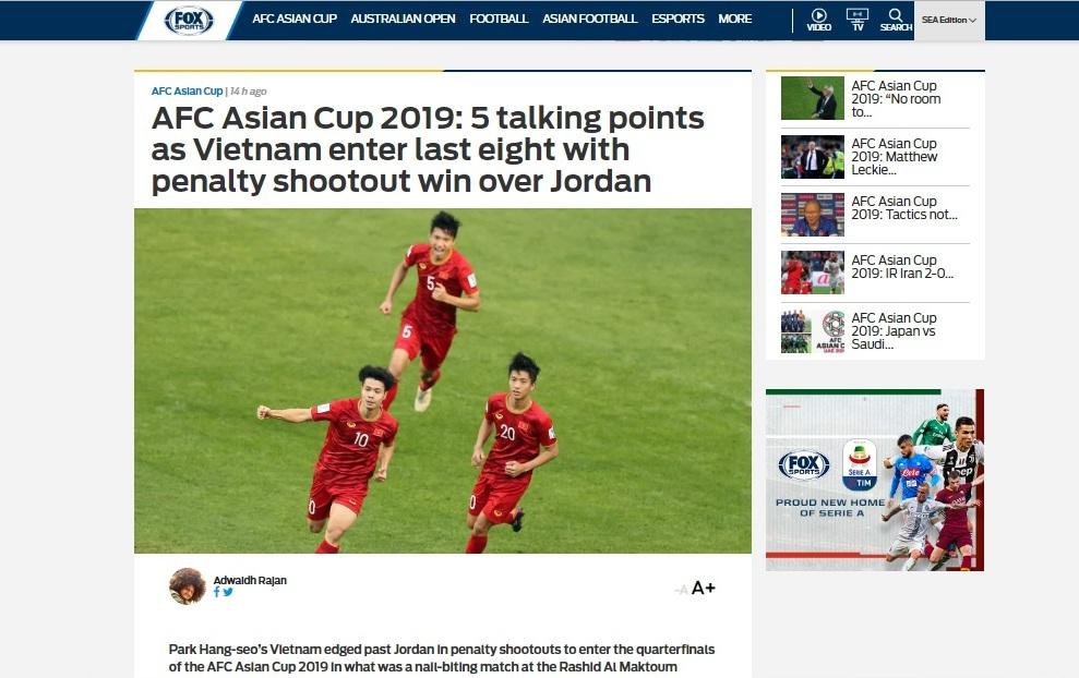 Truyền thông quốc tế khen ngợi Đội tuyển Việt Nam
