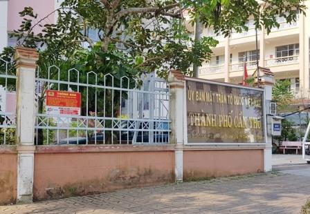 Kỉ luật cảnh cáo Chủ tịch Ủy ban MTTQ TP. Cần Thơ