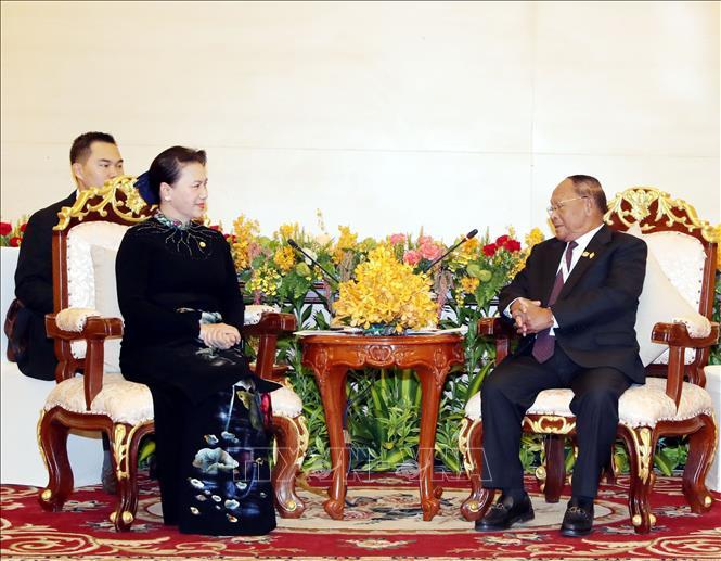 Chủ tịch Quốc hội Nguyễn Thị Kim Ngân hội kiến Chủ tịch Quốc hội Campuchia