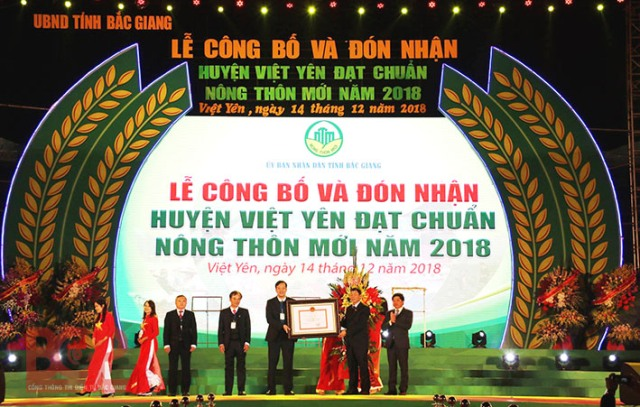 Việt Yên: Huyện đầu tiên đạt chuẩn nông thôn mới của tỉnh Bắc Giang