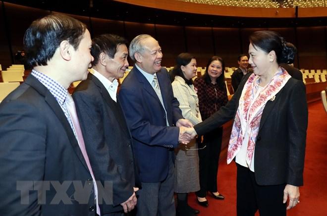 Chủ tịch Quốc hội gặp mặt nguyên lãnh đạo, nguyên đại biểu Quốc hội