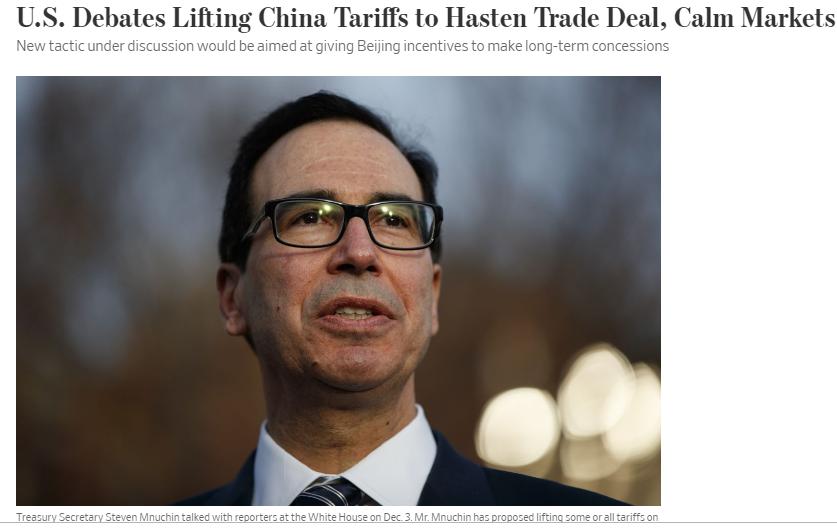 Mỹ cân nhắc phương án cắt giảm thuế đối với hàng hóa Trung Quốc