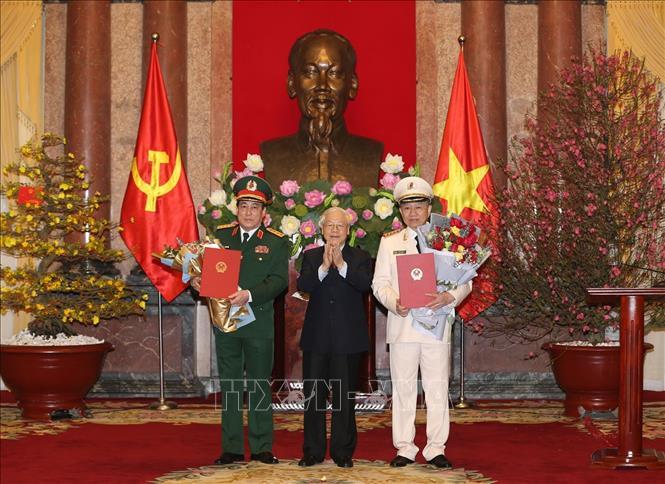 Phong hàm Đại tướng đối với hai đồng chí Tô Lâm và Lương Cường
