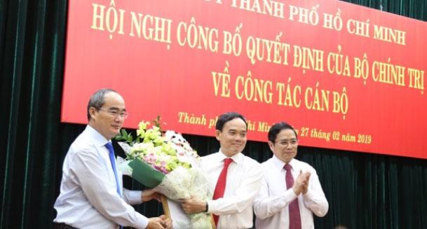 Đồng chí Trần Lưu Quang giữ chức Phó Bí thư Thường trực Thành ủy Thành phố Hồ Chí Minh