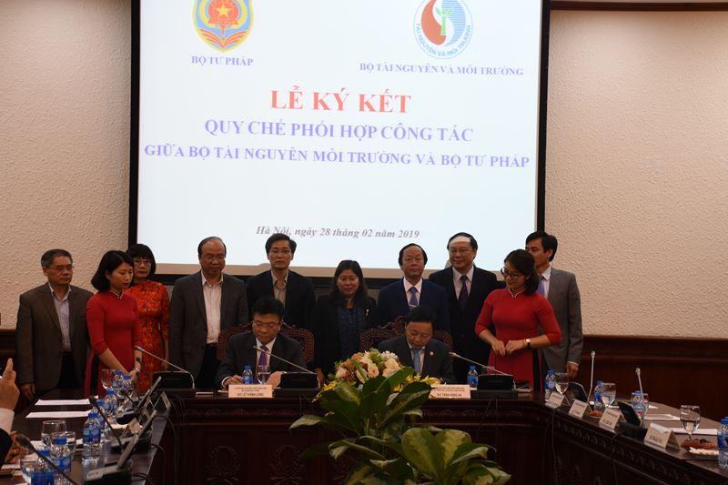 Nâng cao hiệu quả phối hợp giữa Bộ Tài nguyên và Môi trường với Bộ Tư pháp