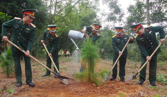 LLVT Quân khu 3: trồng hơn 10 vạn cây xanh dịp đầu Xuân Kỷ Hợi 2019