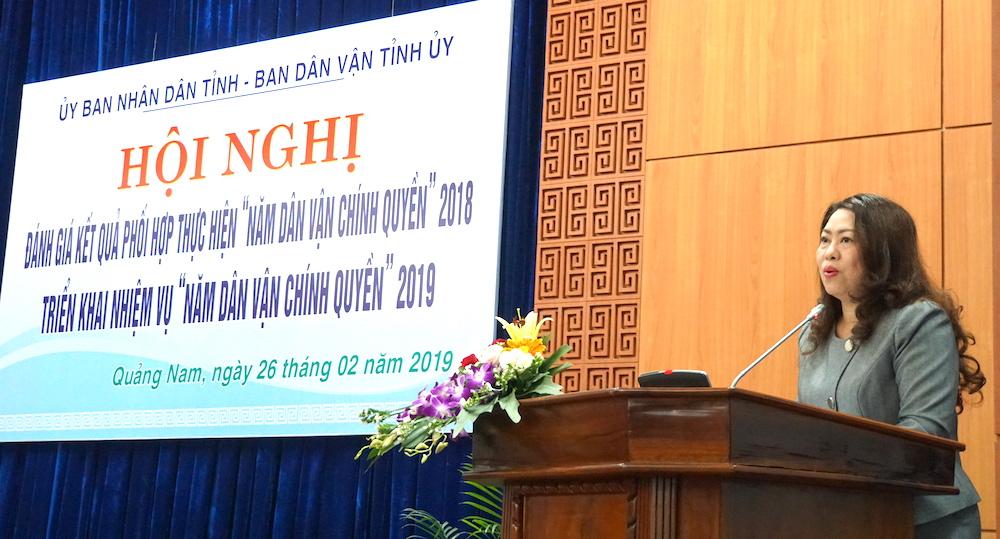 """Quảng Nam: Triển khai có hiệu quả """"Năm dân vận chính quyền"""" 2019"""