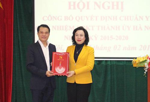 Công bố quyết định chuẩn y Chủ nhiệm Ủy ban Kiểm tra Thành ủy Hà Nội