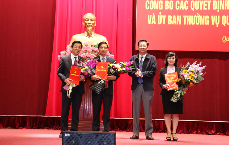 Công bố các Quyết định về công tác cán bộ tại Quảng Ninh