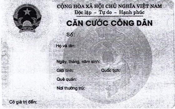 Bộ Công an công bố hợp nhất về mẫu thẻ căn cước công dân