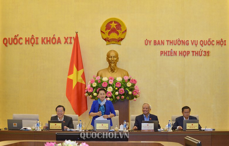 Khai mạc phiên họp thứ 31 của Ủy ban Thường vụ Quốc hội
