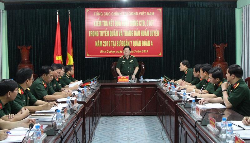 Nâng cao chất lượng công tác đảng, công tác chính trị trong huấn luyện chiến sĩ mới