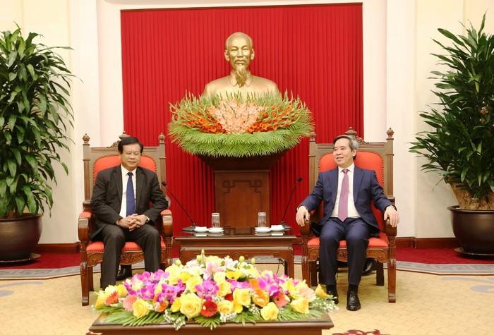 Tăng cường hợp tác giữa Viện nghiên cứu kinh tế quốc gia Lào và các cơ quan Việt Nam