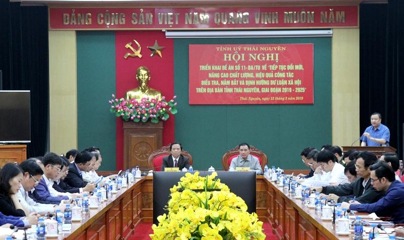 Thái Nguyên: Nâng cao chất lượng, hiệu quả công tác điều tra, nắm bắt và định hướng dư luận xã hội
