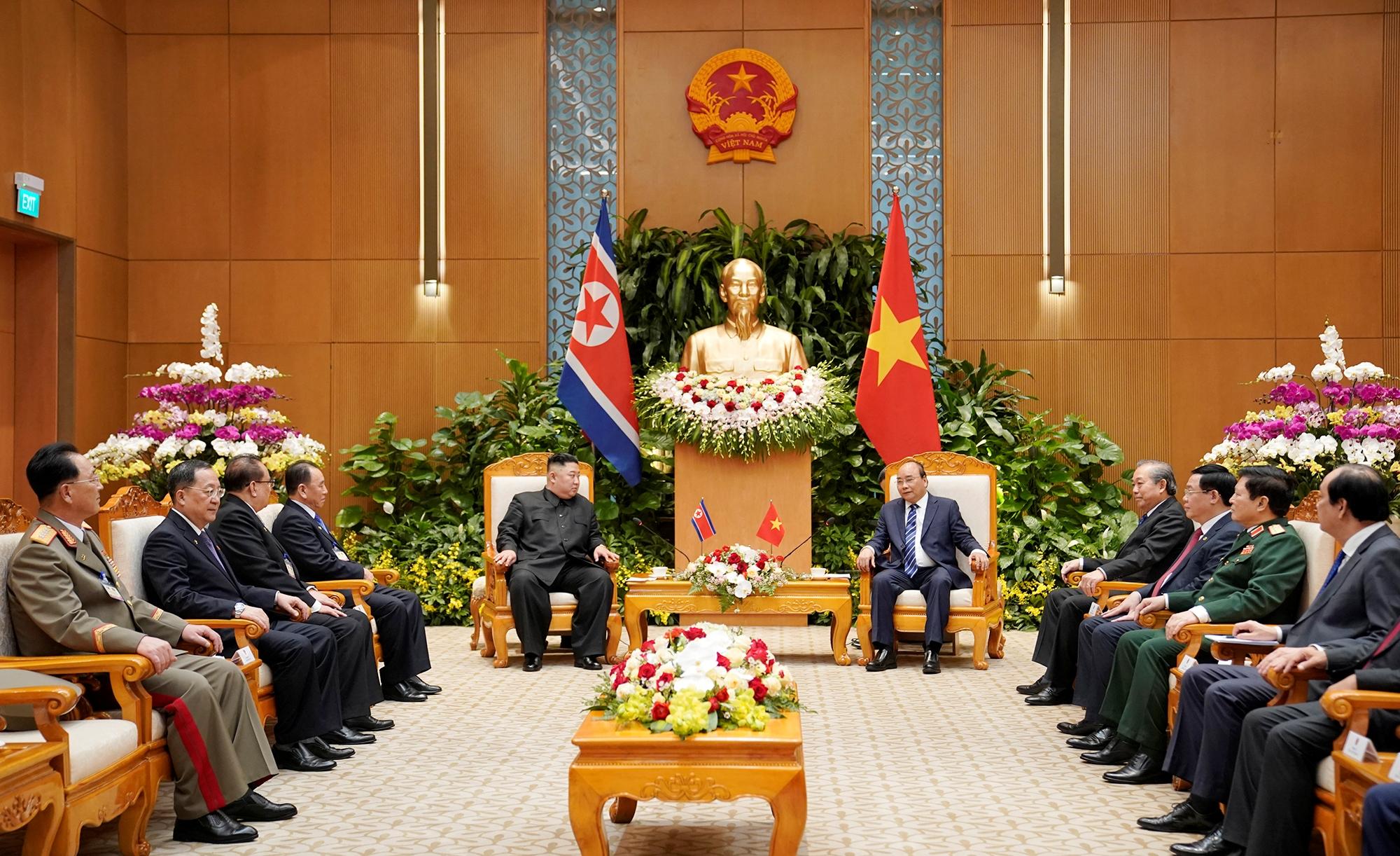 Thủ tướng Nguyễn Xuân Phúc hội kiến Chủ tịch Triều Tiên Kim Châng Ưn