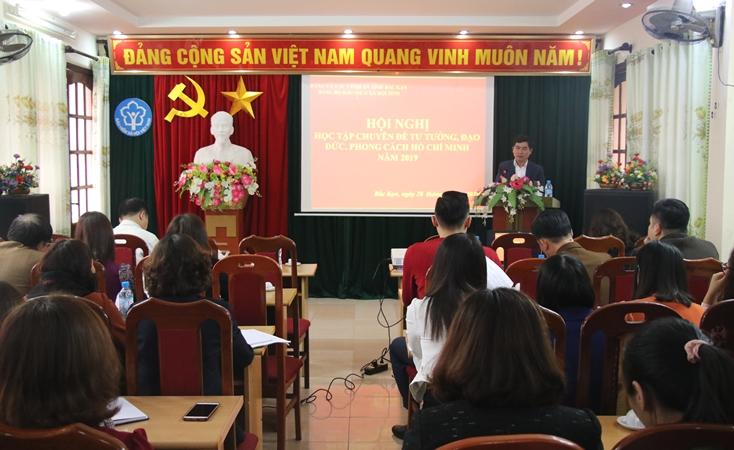 """BHXH tỉnh Bắc Kạn: Học tập chuyên đề """"Tư tưởng, đạo đức, phong cách Hồ Chí Minh"""" năm 2019"""