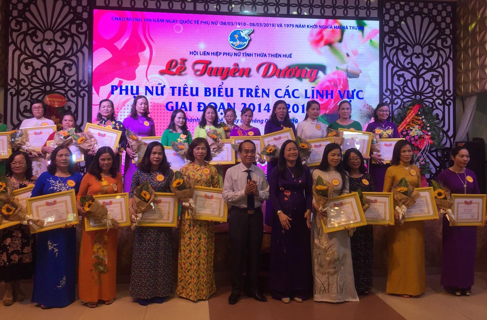 Thừa Thiên Huế tuyên dương phụ nữ tiêu biểu trên các lĩnh vực