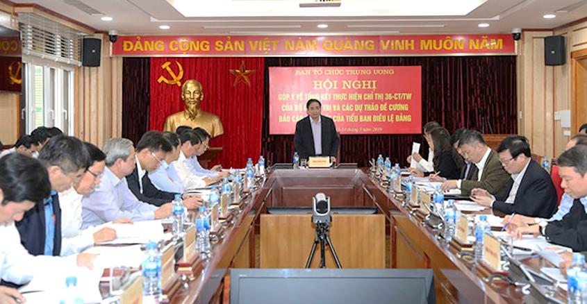 Góp ý các dự thảo đề cương báo cáo của Tiểu ban Điều lệ Đảng