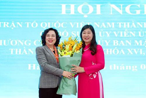 Thành phố Hà Nội có nữ Chủ tịch Ủy ban Mặt trận Tổ quốc