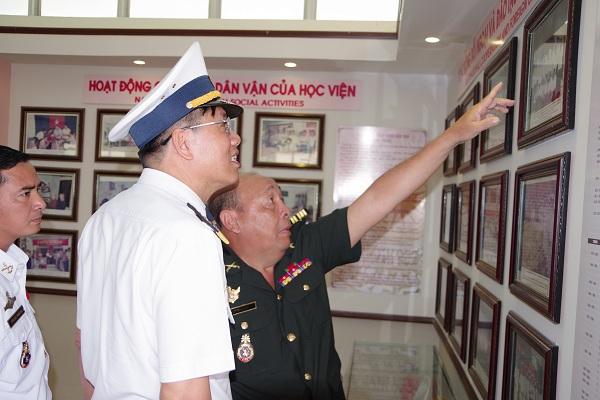 Học viện Hải quân đào tạo nhiều cán bộ, sĩ quan Hải quân Campuchia