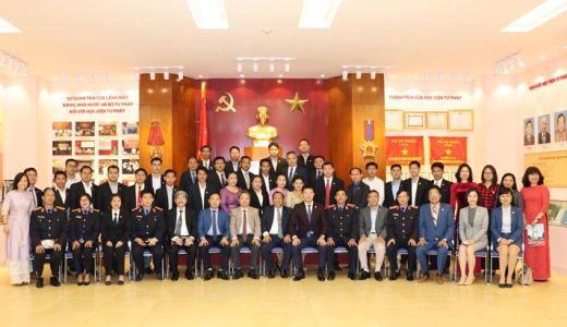 Học viện Tư pháp khai giảng lớp đào tạo cho cán bộ, giảng viên Lào