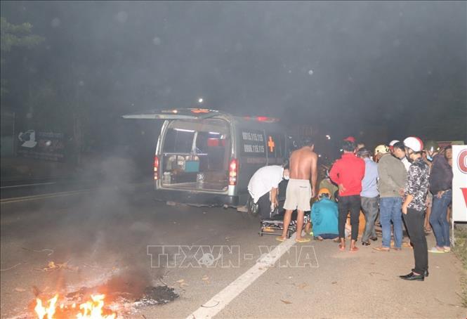 Bình Phước: Tai nạn liên hoàn trên quốc lộ 14 làm 4 người bị thương nặng