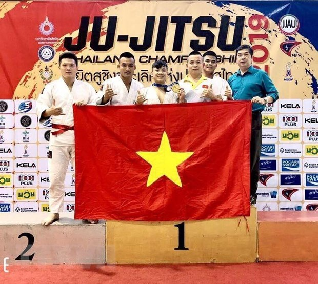 Việt Nam giành huy chương Vàng Giải Ju-Jitsu Thái Lan mở rộng