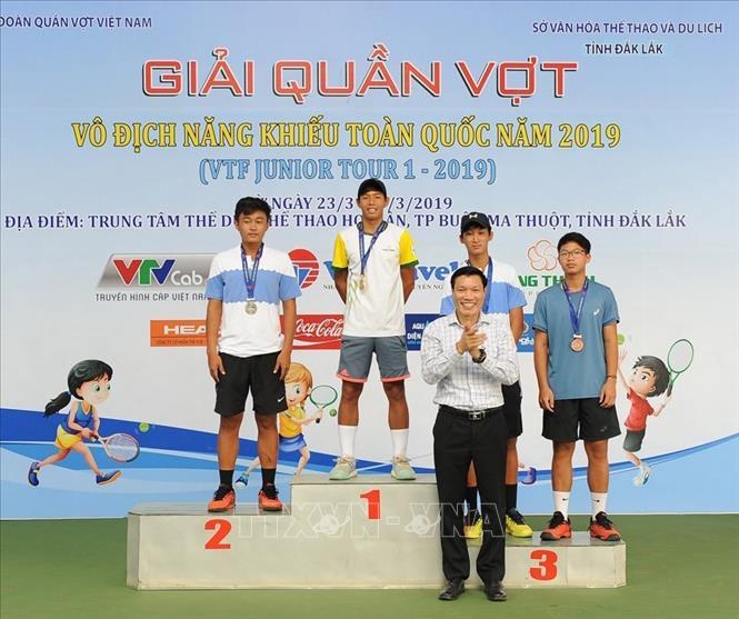 Kết thúc Giải quần vợt Vô địch năng khiếu toàn quốc năm 2019