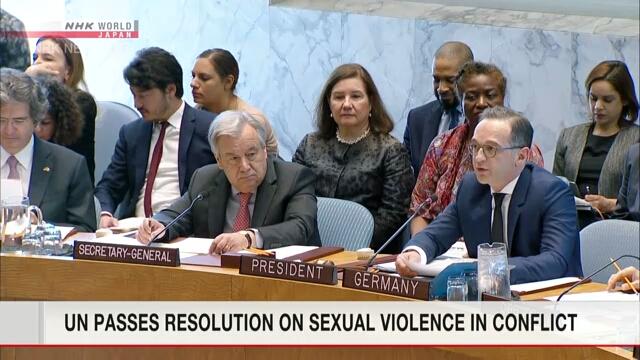 Thông qua nghị quyết chống nạn bạo lực tình dục trong xung đột