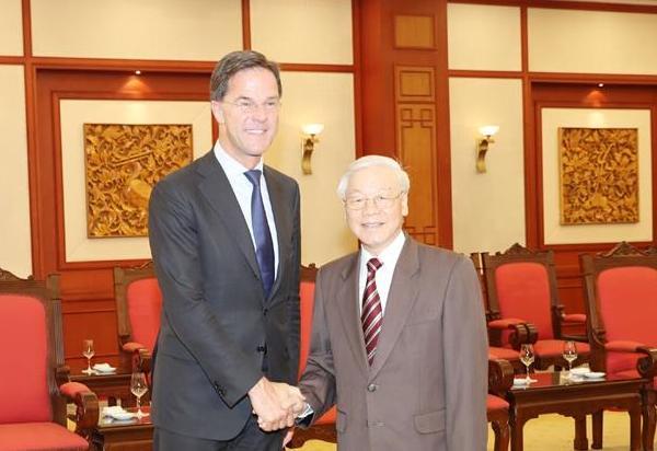 Tổng Bí thư, Chủ tịch nước tiếp Thủ tướng Hà Lan
