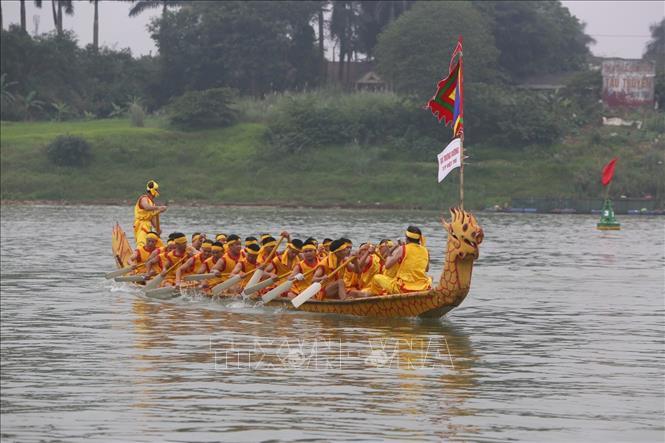 Lễ hội bơi chải truyền thống trên sông Lô