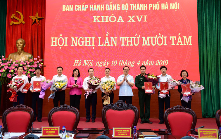 Kiện toàn nhân sự Ban Thường vụ, Ban Chấp hành Đảng bộ TP. Hà Nội