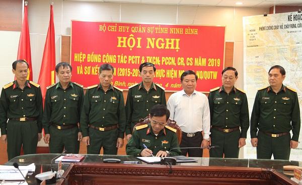 Ninh Bình: Hội nghị hiệp đồng công tác phòng chống thiên tai và tìm kiếm cứu nạn năm 2019