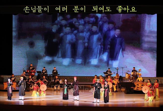 Chương trình nghệ thuật của Việt Nam để lại ấn tượng tốt đẹp với nhân dân Triều Tiên