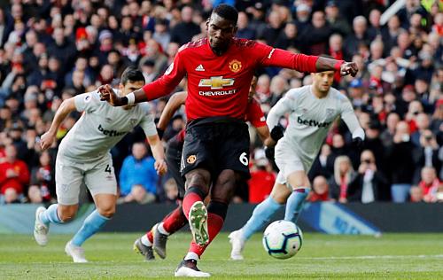 Pogba giúp M.U nhọc nhằn vượt ải West Ham