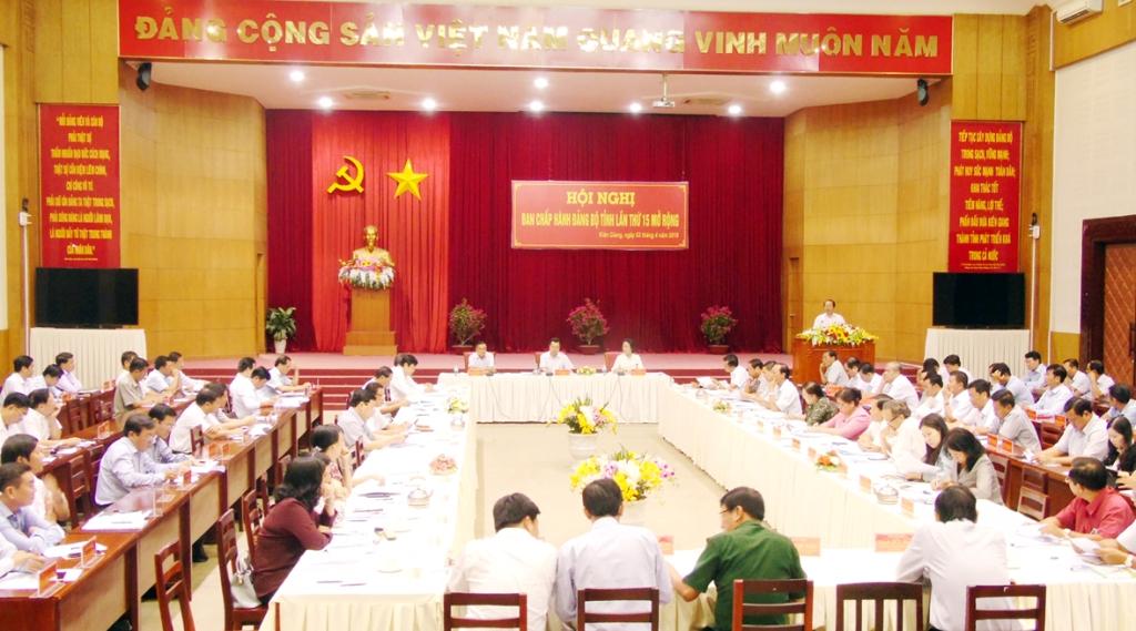Hội nghị Ban Chấp hành Đảng bộ tỉnh Kiên Giang lần thứ 15 (mở rộng)