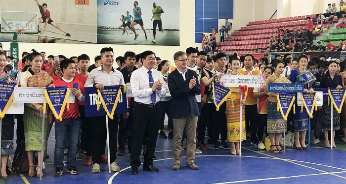 Khai mạc Đại hội thể thao lưu học sinh Lào lần thứ 13 tại Hà Nội