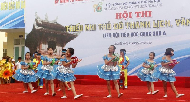 Thiếu nhi Thủ đô thi tìm hiểu nếp sống văn hóa người Hà Nội