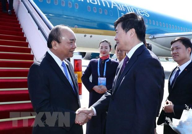 Thủ tướng đến Bắc Kinh, bắt đầu chuyến tham dự Diễn đàn