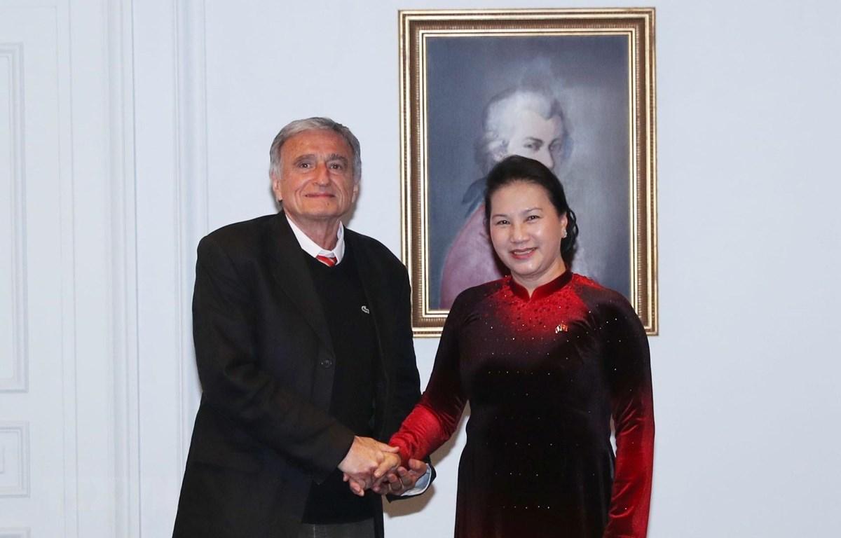 Chủ tịch Quốc hội gặp Tổng thư ký Hội hữu nghị Pháp-Việt