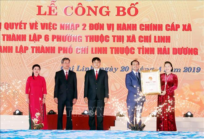 Lễ công bố Nghị quyết về thành lập thành phố Chí Linh