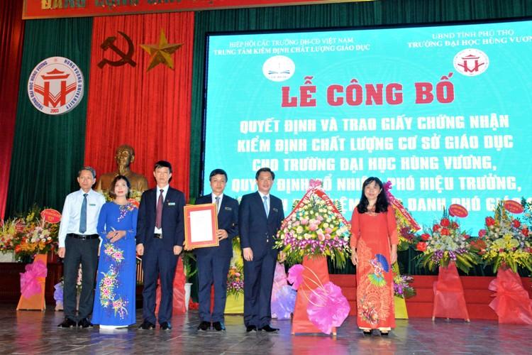Trường Đại học Hùng vương đạt tiêu chuẩn chất lượng cơ sở giáo dục đại học