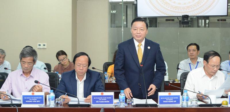 Bộ trưởng Bộ Tài Nguyên và Môi trường làm việc với EVN về công tác bảo vệ môi trường