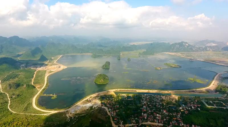 Toàn cảnh quần thể chùa Tam Chúc – nơi diễn ra Đại lễ Vesak 2019