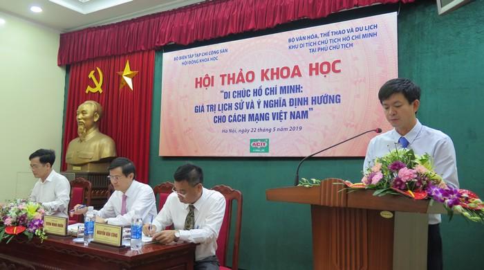 """""""Di chúc Hồ Chí Minh: Giá trị lịch sử và ý nghĩa định hướng cho cách mạng Việt Nam"""""""