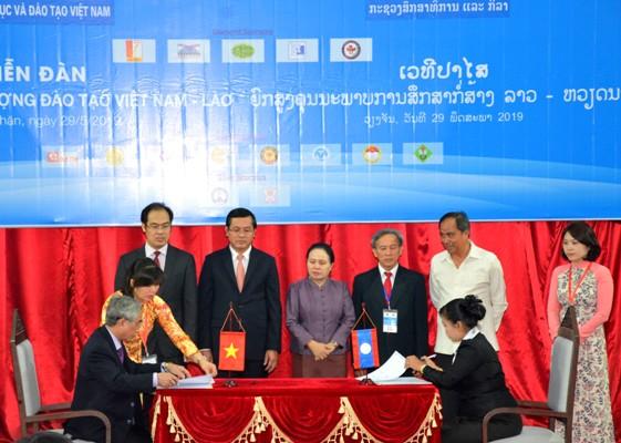 Nâng cao chất lượng giáo dục và đào tạo Việt Nam - Lào