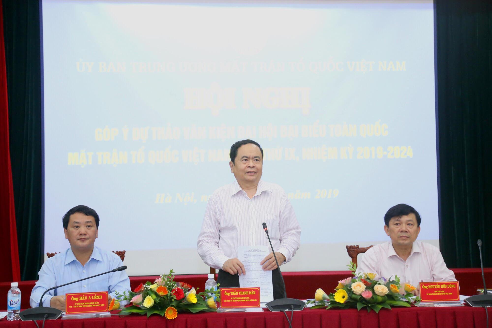 Khẳng định vai trò hiệp thương của Mặt trận các cấp với các tổ chức thành viên