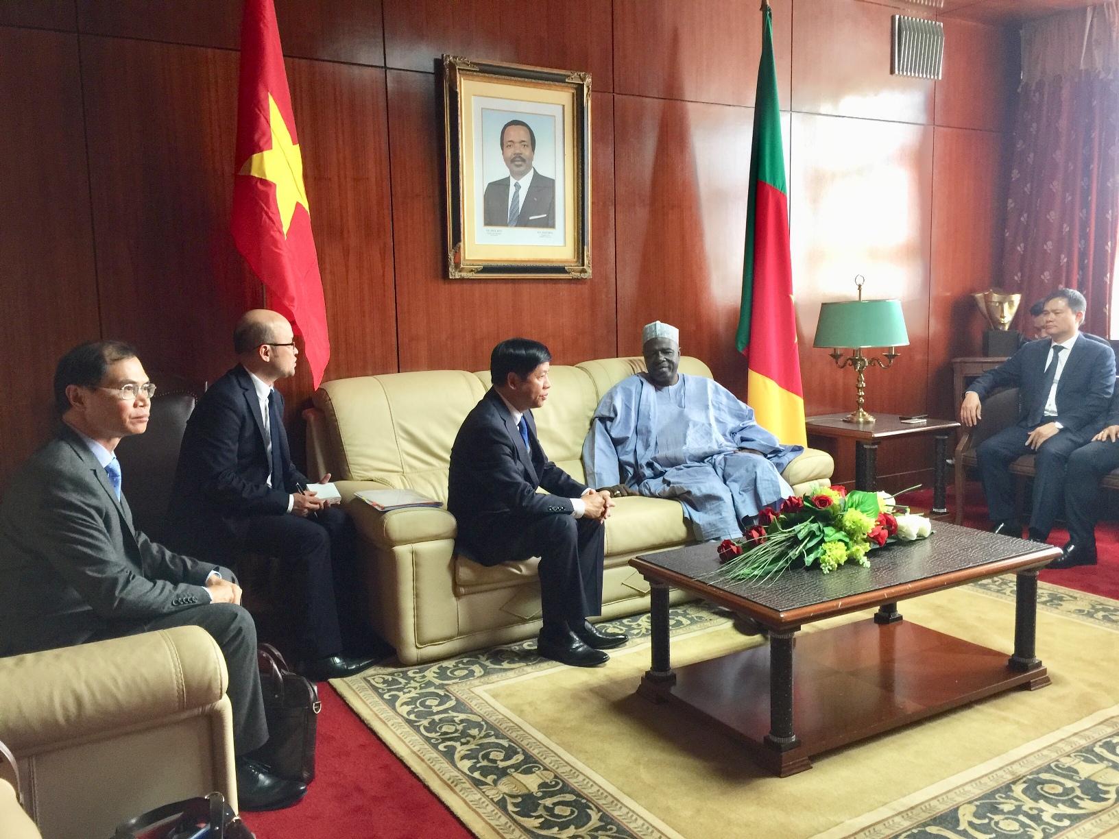 Việt Nam mong muốn phát triển hơn nữa mối quan hệ hữu nghị tốt đẹp với Cameroon
